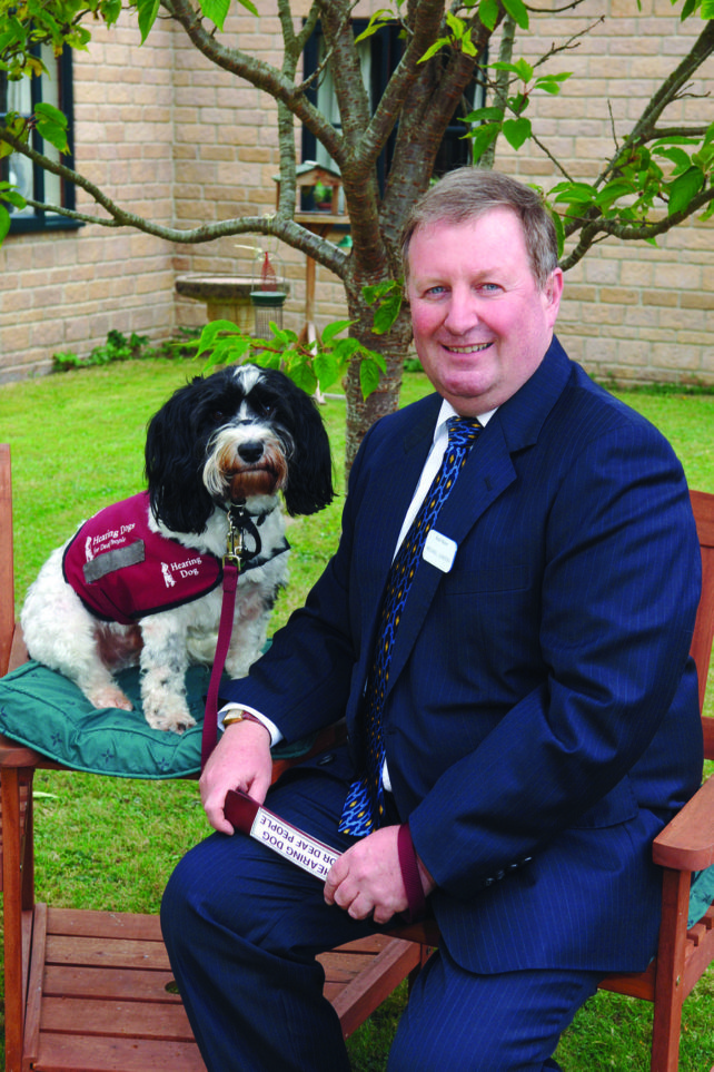Make a living from writing. Michael with his hearing dog
